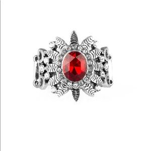 ✨3 for $10✨ Silver and red ring